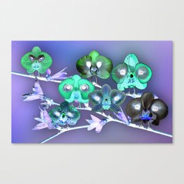 Orchid Birds Canvas Print