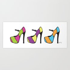 High Heel Parade Art Print