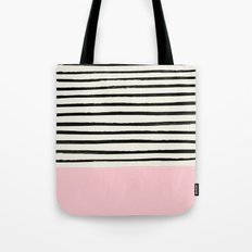 Millennial Pink x Stripes Tote Bag