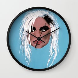 Blondie ~ Debbie Harry, Lady of the eighties! Wall Clock
