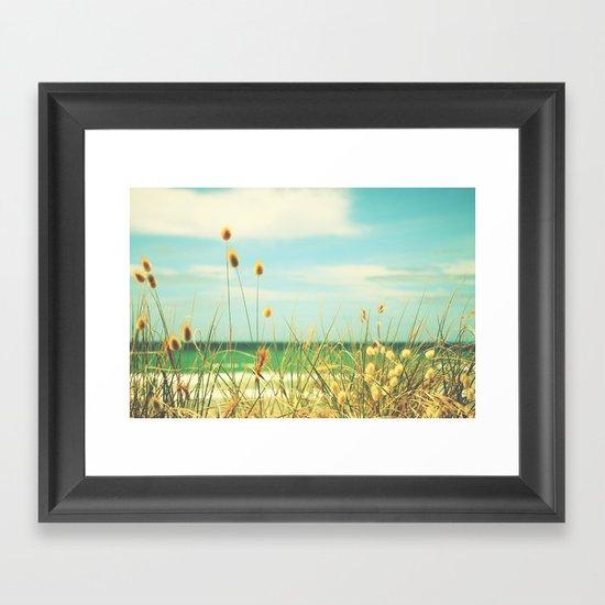 Somewhere Seaside Framed Art Print