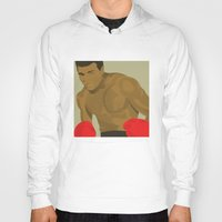 ali gulec Hoodies featuring Cool image of a boxer by drawgood