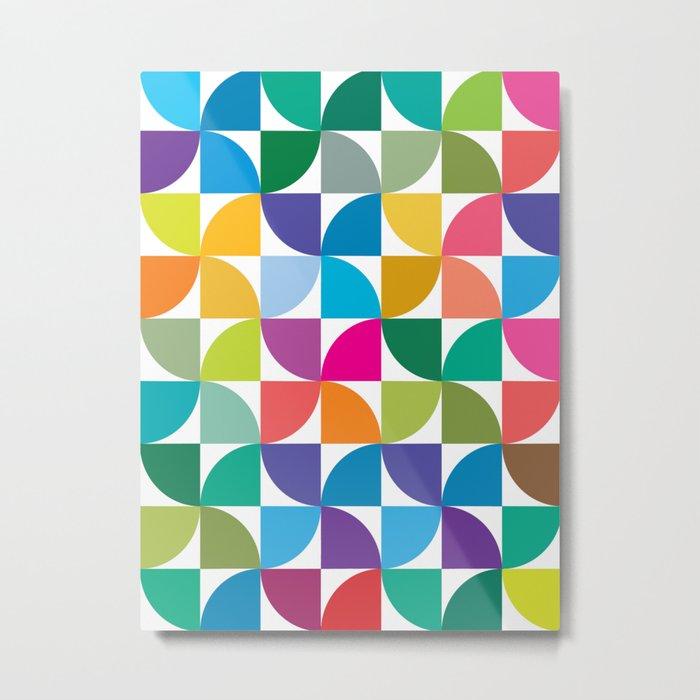 Geometrical work - Colours rotation Metal Print