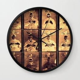 Handy Mugshots Wall Clock