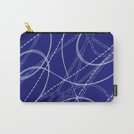 Deep Blue Abstract Shapes & Lines-Barbara Chichester Carry-All Pouch