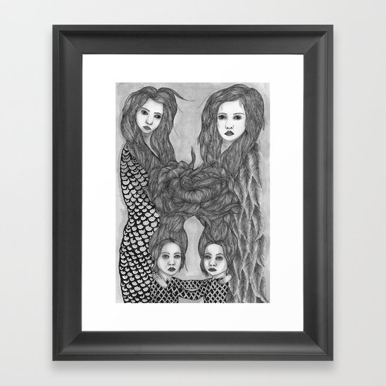 Us and Them Framed Art Print