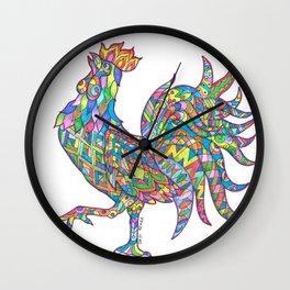 Cockerel manadala Wall Clock