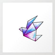 Origami Pastels Art Print