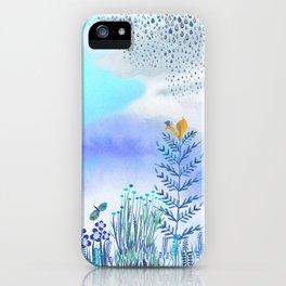 Blue Garden II iPhone Case