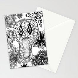 Skeleton Flowers  Stationery Cards