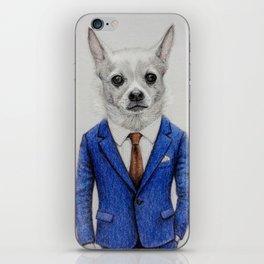 gentleman dog iPhone Skin