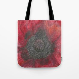 Heart of the Poppy by Candy Medusa Tote Bag