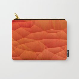 Quilted Pattern Orange Texture Abstract Carry-All Pouch