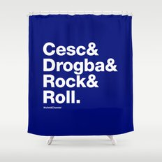 Cesc&Drogba&RocknRoll Shower Curtain