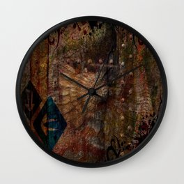 Rustic Textured Abstract Painting Wall Clock