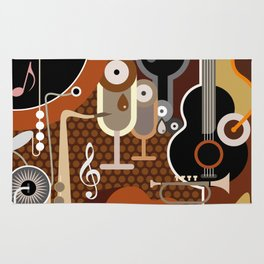 Abstract Music Background Rug