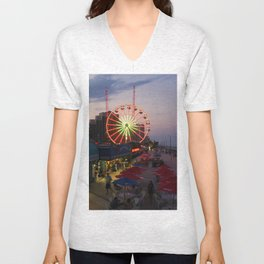 Daytona Beach Boardwalk  Unisex V-Neck