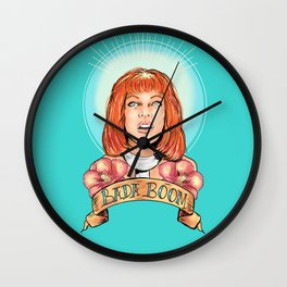 St. Leeloo of the Big Bada Boom Wall Clock
