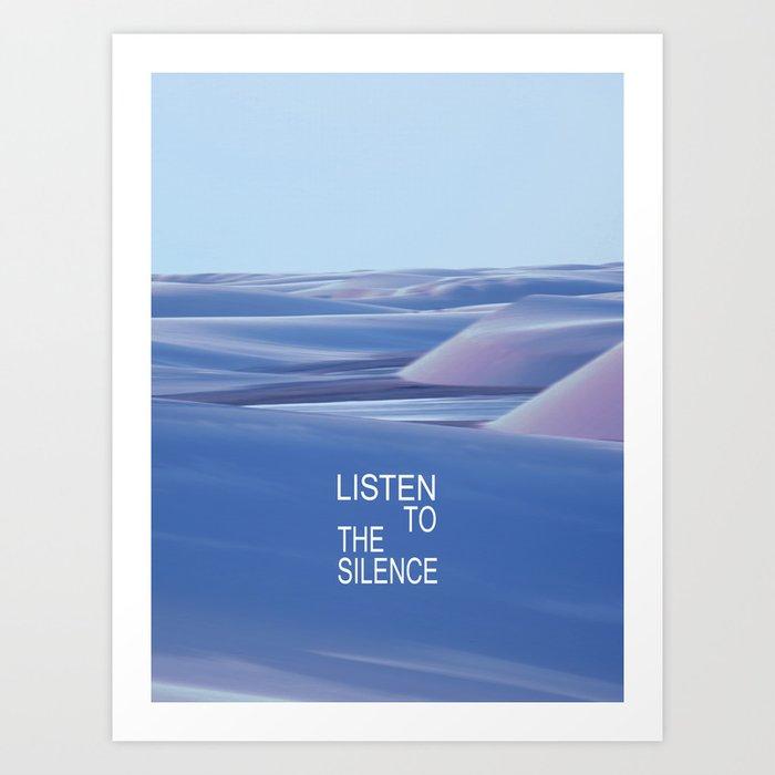 Listen to the Silent #3 Art Print