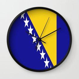 Flag of Bosnia – Bosnian,Bosniak,herzegovinian,bosna,Sarajevo,Balkan,yugoslavia. Wall Clock