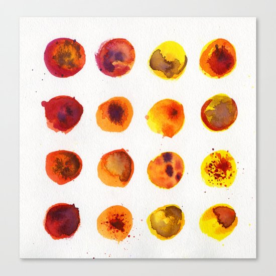 Sherbert Dot Canvas Print