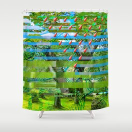Landscape of My Heart (segment 2) Shower Curtain