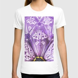 indian violet Flower pattern Collage digital ART T-shirt