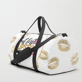 But First Lipstick Duffle Bag
