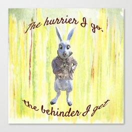 White Rabbit shares his wisdom Canvas Print