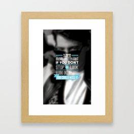 """""""FERRIS BUELLER"""" Typography Poster Framed Art Print"""
