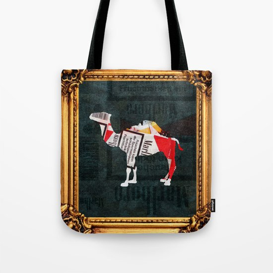 Camel Collage 4F Tote Bag