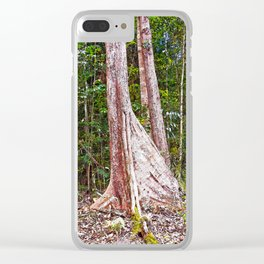 Buttress root in the rainforest Clear iPhone Case