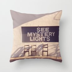 See Mystery Lights Throw Pillow