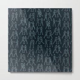 Round One STEEL BLUE / Vintage boxers Metal Print