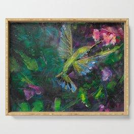 Mystical Hummingbird Serving Tray