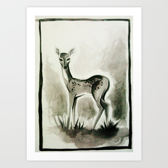 Fawn Aquarelle Art Print