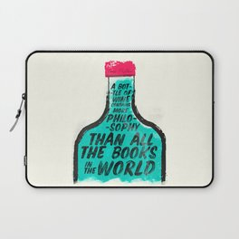 Louis Pasteur quote on wine Philosophy and books, inspirational saying, motivational sentence Laptop Sleeve