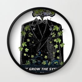 OUTGROW THE SYSTEM Wall Clock