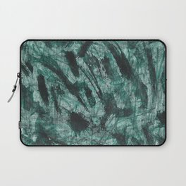 Black Ink and Green Marker Laptop Sleeve