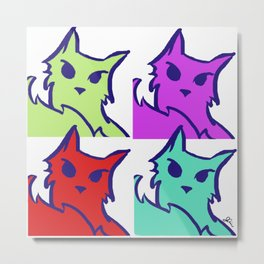 Cat Pop Art Metal Print