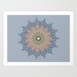 swirl mandala Art Print