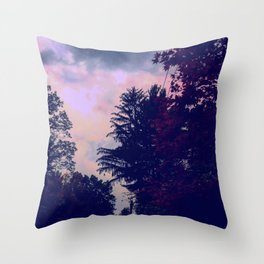 Evening Skyline on Safe Road Throw Pillow