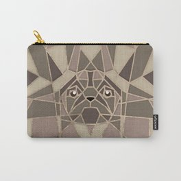 Art Deco Pug dog - Pastels Gold Carry-All Pouch
