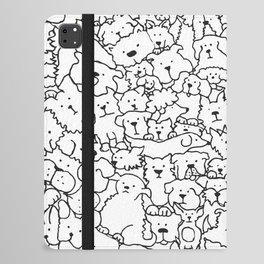 Dog Doodle Art iPad Folio Case