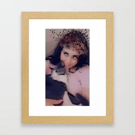 Crazy cat lady/Mouny Framed Art Print