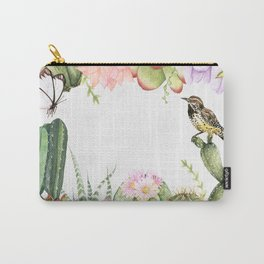 Floral Cactus Paradis Carry-All Pouch
