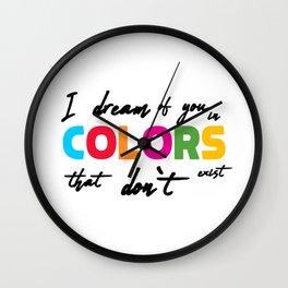 i dream of you Wall Clock