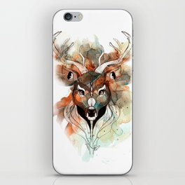 Deer- color brown iPhone Skin