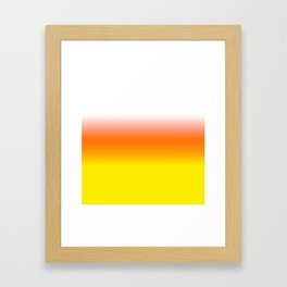 White Orange and Yellow Halloween Candy Corn Framed Art Print