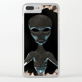 Alien Portrait Clear iPhone Case